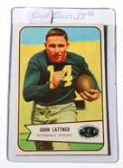 1954 Bowman John Lattner Rookie Card