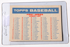 1957 Topps Bazooka Baseball First & Second Series Checklist