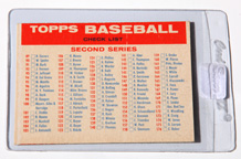 1957 Topps Bazooka Baseball Second & Third Series Checklist