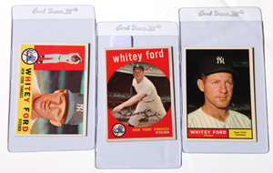 1959, 60 & 61 Topps Whitey Ford Cards