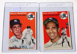 1954 Topps Phil Rizzuto & Billy Martin Cards