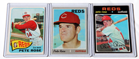 1965, 1970 & 1971 Topps Pete Rose Cards