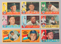 Nine 1960 Topps Yankees Cards