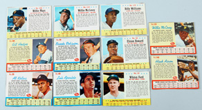 Ten 1963 Post Baseball Star Cards