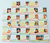 Twenty-Eight 1962 Post Baseball Cards