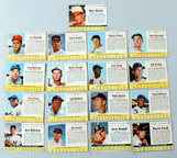 Seventeen 1963 Post Baseball Cards