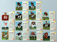 Fourteen 1962 Post Football Cards