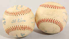 Two 1960's Gillette All Star Game Fascimile Baseballs