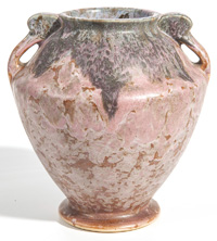 Early Roseville Carnelian Vase