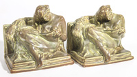 "Pair of Rookwood ""The Reader"" Bookends"