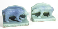 Van Briggle Turquoise Bear Bookends