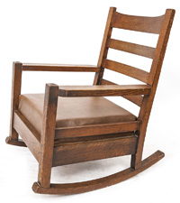 Early Gustav Stickley Rocker #2603