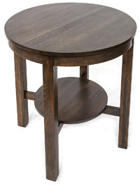 Arts & Crafts Round Lamp Table