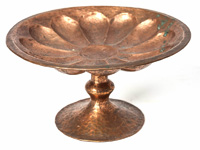Arts & Crafts Hand Hammered Copper Compote