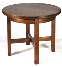 Arts & Crafts Oak Round Table