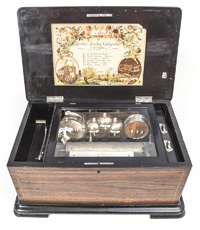 Swiss Orchestral Cylinder Music Box