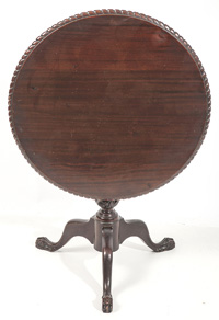 Carved Chippendale Style Tea Table