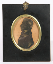 EARLY 19TH CENTURY SILHOUETTE OF GENTLEMAN