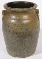J.D. DILLON, BURLINGTON, OHIO STONEWARE JAR