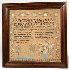 CLARK CO., CLIFTON, OHIO. NEEDLEWORK SAMPLER
