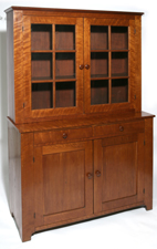 OHIO CHERRY 2-PC. STEPBACK CUPBOARD