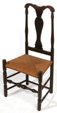 AMERICAN PERIOD QUEEN ANNE SIDE CHAIR