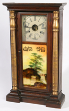 LG. HALF COLUMN SHELF CLOCK BY S.C. SPRING