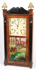 BOARDMAN & WELLS WOODWORKS SHELF CLOCK