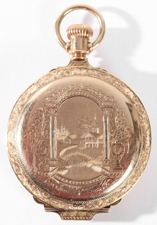 14K GOLD ELGIN HUNTING CASE POCKET WATCH