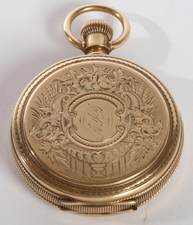 GOLD ELGIN 6 SIZE HUNTING CASE POCKET  WATCH