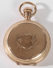 GOLD AM. WALTHAM HUNTING CASE POCKET WATCH
