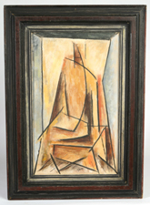 JAMES YOKO, DAYTON, OHIO CUBIST PAINTING