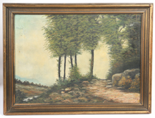 CIRCA 1900 SIGNED LANDSCAPE OIL PAINTING