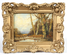 J. MEAD 19TH CENTURY LANDSCAPE OIL PAINTING
