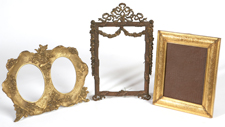 THREE EDWARDIAN BRONZE FRAMES