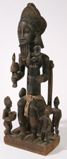 LG. AFRICAN TRIBAL CARVING