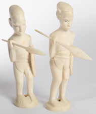 PR. OF CARVED IVORY MASAI WARRIORS