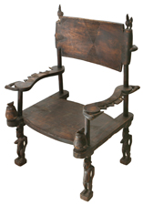 CARVED AFRICAN TRIBAL CHIEF'S CHAIR