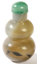 CHINESE JADE DOUBLE GOURD SNUFF BOTTLE