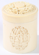 CHINESE CARVED IVORY BOX