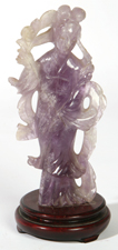 CHINESE AMETHYST HARD STONE CARVING