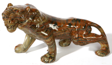 CHINESE CARVED HARDSTONE TIGER