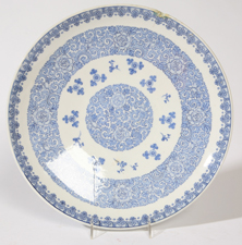 LG. CHINESE CANTON PORCELAIN CHARGER