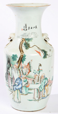 LG. CHINESE PORCELAIN VASE W/INSCRIPTION
