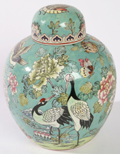 LG. CHINESE PORCELAIN GINGER JAR