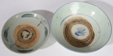 TWO CHINESE CANTON PORCELAIN BOWLS