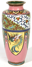 JAPANESE CLOISONNE VASE WITH DRAGONS