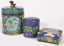 THREE PIECES CHINESE CLOISONNE
