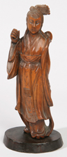 FINE CHINESE CARVED FRUITWOOD FIGURE