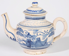 18TH CENTURY FAIENCE TEAPOT